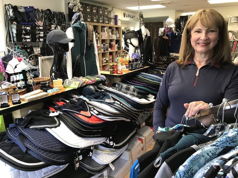 Cheshire Equestrian Center Owner Carol DiCarlo in her CT Tack Shop