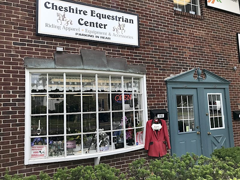 Cheshire Equestrian Center exterior of CT Tack Shop 116 Main Street, Cheshire, Connecticut