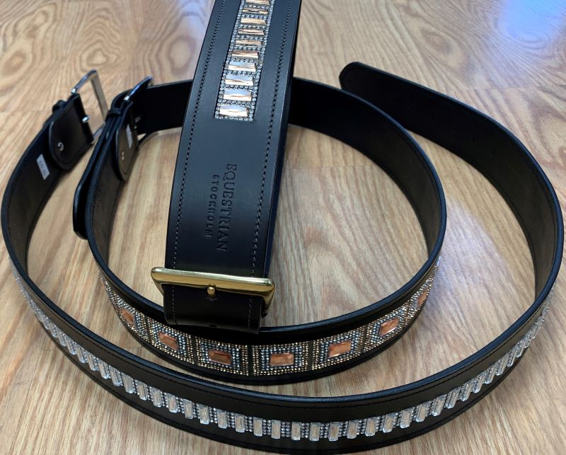 Equestrian Stockholm belts add a little bling. At Cheshire Equestrian Center ct tack shop