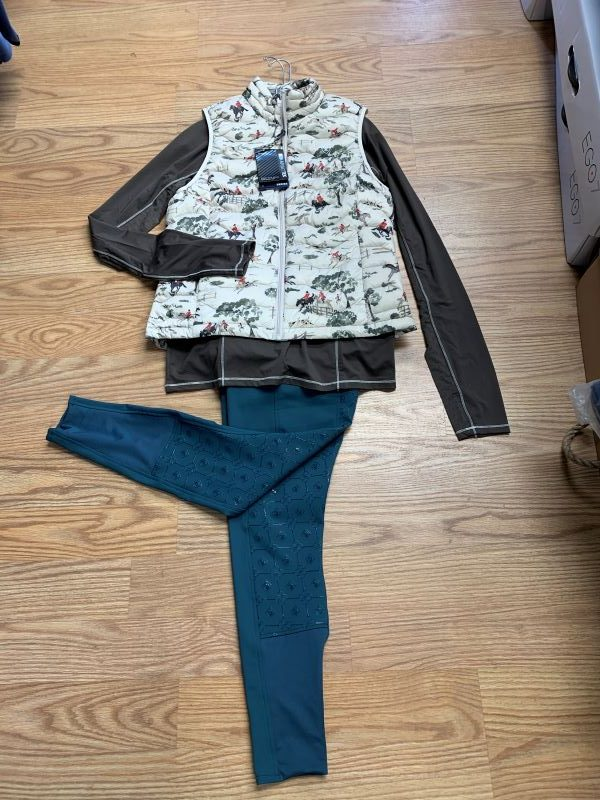 Ariat Ideal Down vest 1/2 zip Romfh@cttackshop