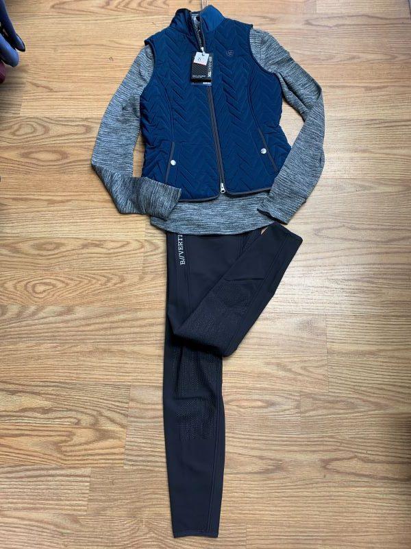 Ariat Teal vest and 1/4 zip shirt B vertigo fleece breeches@cttackshop